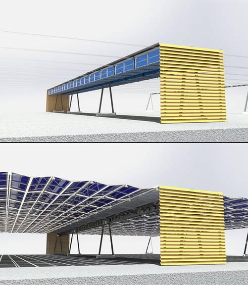 So soll die neue Solaranlage aussehen. (Bild: FM1Today/ zVg)