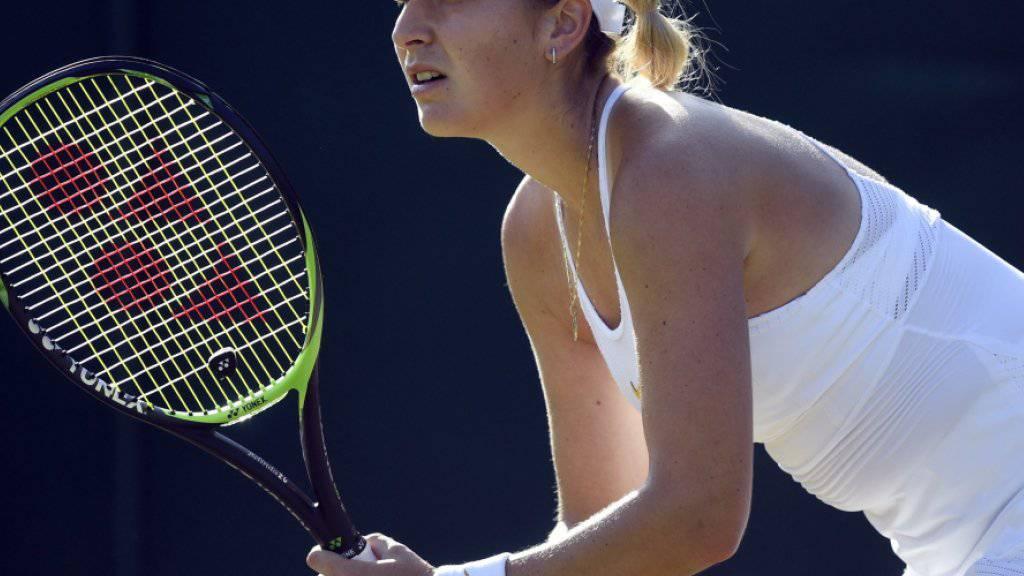 Konzentriert und nervenstark: Belinda Bencic schaltete in Wimbledon die Weltnummer 6 Caroline Garcia aus