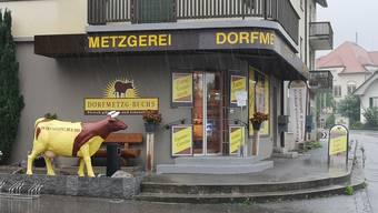 Geplante Schliessung durch die Coronakrise: In Buchs wird in der Dorfmetzgerei bald kein Fleisch mehr über die Ladentheke gehen.