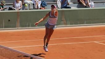 Gegen Garcia vergeblich gestreckt: Jil Teichmann. (Bild: Swiss Tennis)