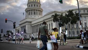 El Capitolio de la Habana, Sitz des kubanischen Parlaments in der Hauptstadt.