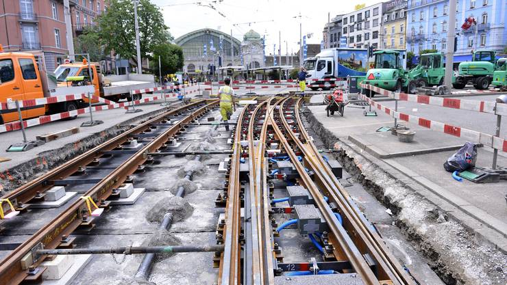 So sah es noch Anfang Monat vor dem Centralbahnplatz aus.