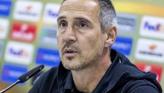 YB-Trainer Adi Hütter nach dem aufwühlenden Match gegen St. Gallen