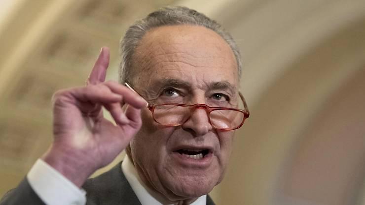 Chuck Schumer, Führer der demokratischen Minderheit im US-Senat, gab die Einigung für das Hilfspaket bekannt. (Archivbild)