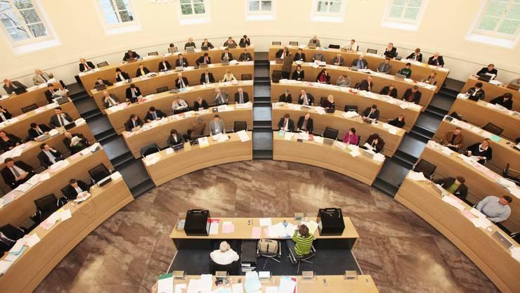 Am Dienstag gehts los: Blick in das Grossratsgebäude in Aarau. (Raphael Hünerfauth)