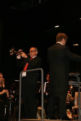 Gemeindeammann Fabian Keller trat als Solotrompeter am Neujahrskonzert auf.