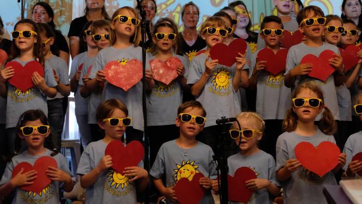 «Ich han dich so gern»: Mit dem im März getauften neuen Album traten die Sunechind gestern in Weiningen auf.