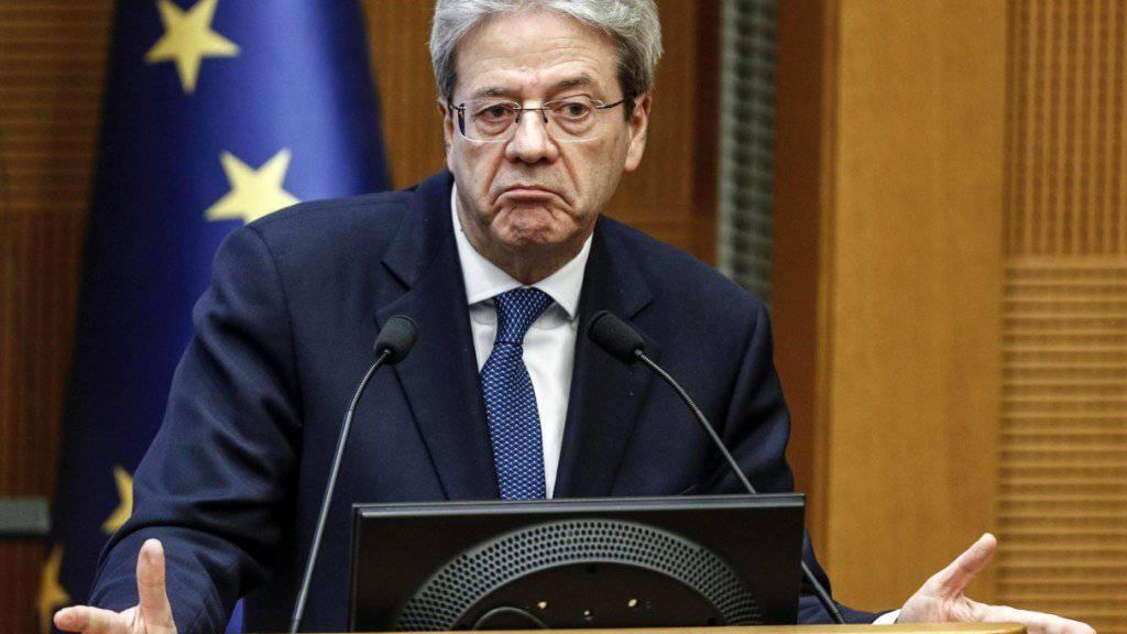 Paolo Gentiloni, Regierungschef Italiens, das vor Neuwahlen steht