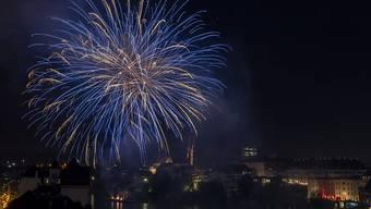Das grosse Bundesfeier-Feuerwerk in Basel wurde in der Nacht zum 1. August gezündet.