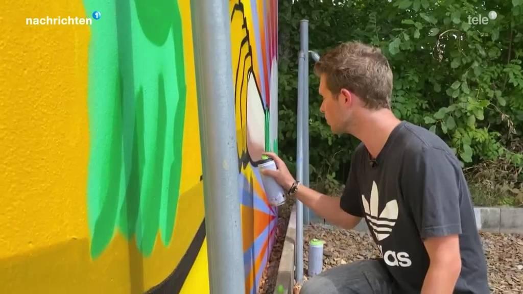 Versteigerung von künstlerischen Corona-Trennwänden