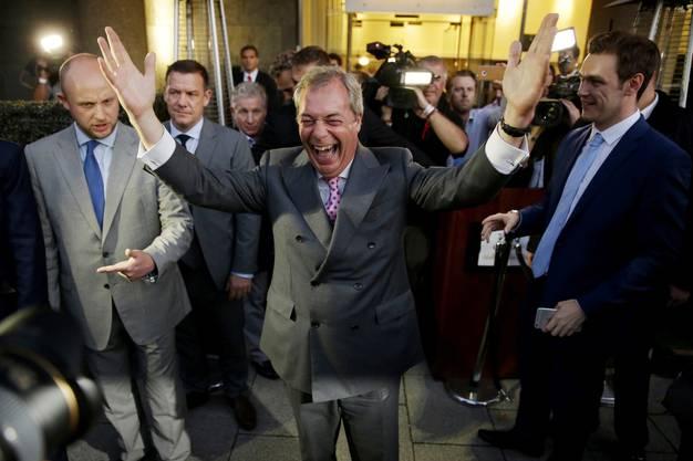 Nigel Farage jubelt