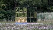 Die temporäre Kunstinstallation zur 230-Jahrfeier der Ermitage Arlesheim ist noch bis und mit Montag auf dem mittleren Weiher zu sehen