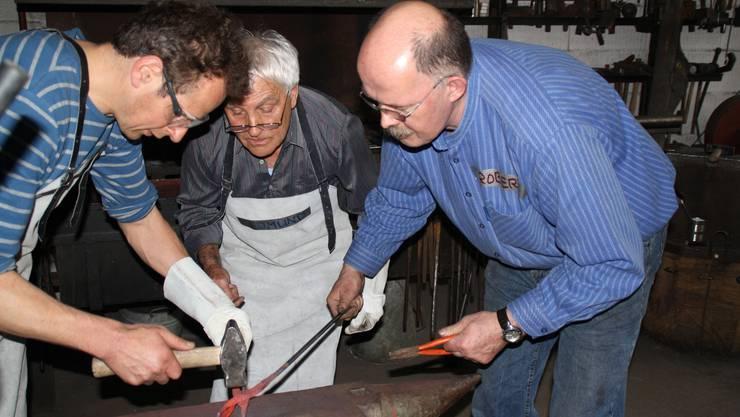 Schmiedekurs in Koblenz: Ein gutes Gefühl, mit den eigenen Händen ein Stück Eisen zu formen.  ewa