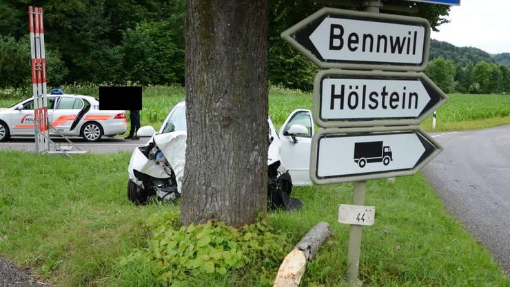 Am Fahrzeug entstand ein erheblicher Sachschaden.