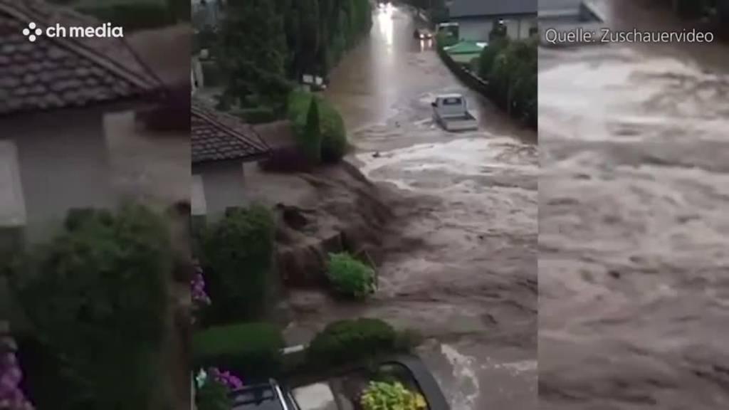 Starker Regen führt zu Überschwemmungen um den Thunersee