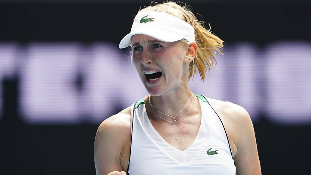 Jil Teichmann überstand gegen Kristina Mladenovic die schwierigen Momente im zweiten Satz souverän