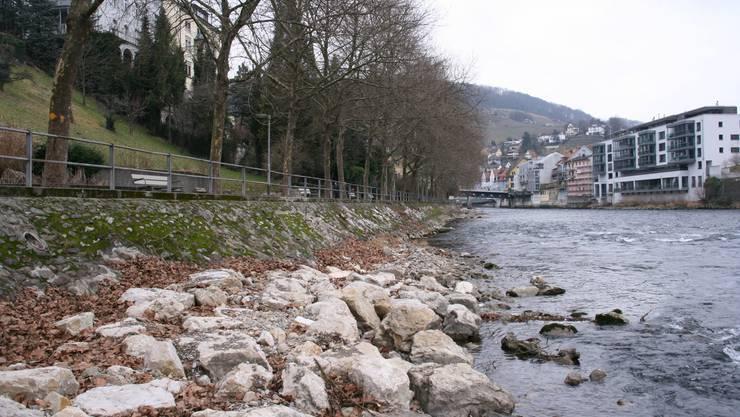 Limmatpromenade in Baden.