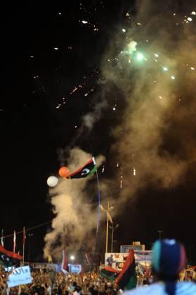 Bereits wird der Sieg der Rebellen in Tripolis gefeiert