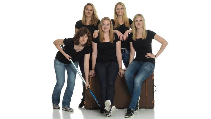 In vier Jahren soll die Reise von Baden Regio an den Olympischen Spielen enden. Hinten (v. l.): Nicole Schwägli, Marisa Winkelhausen; Vorne (v. l.): Mirjam Ott (Coach), Alina Pätz (Skip) und Nadine Lehmann.