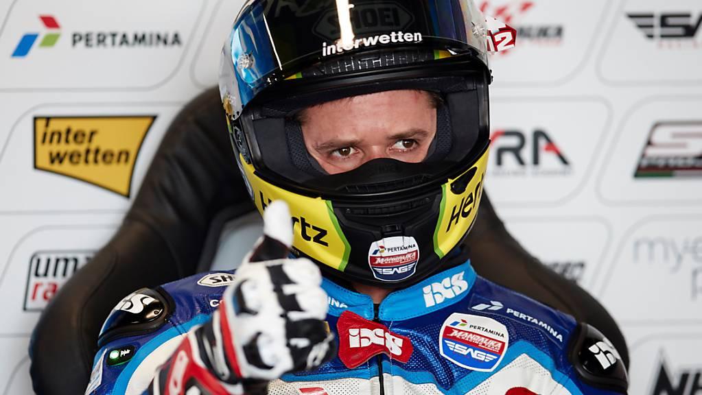 Schwierige Rückkehr in den Wettkampf ansprechend gemeistert: Tom Lüthi auf dem Circuit bei Barcelona.