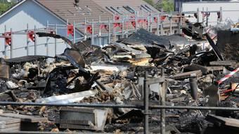Der Tag nach dem Brand in Oltner «Aarepark»