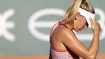 Im Viertelfinal gegen Tamara Korpatsch machte die grosse Hitze Jil Teichmann zu schaffen. Die letzte im Turnier verbliebene Schweizerin verlor 6:3, 0:6, 1:6.