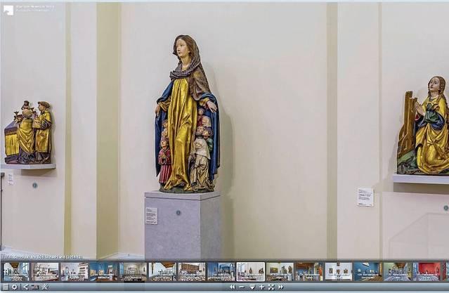 Eine tröstliche Schutzmantel-Madonna im Bode Museum Berlin. Ein virtueller Spaziergang hier ist ein Vergnügen – dank vorbildlicher Navigationshilfe.