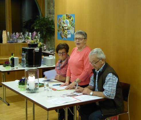 Begrüssung durch die Ehrenpräsidentin Ursula Meise