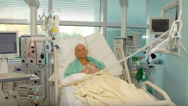 Mit radioaktivem Polonium vergiftet: Litwinenko im Krankenhaus.