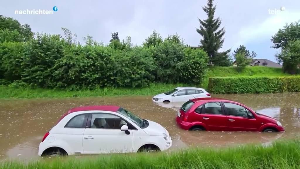 Heftiges Unwetter fegt über die Zentralschweiz