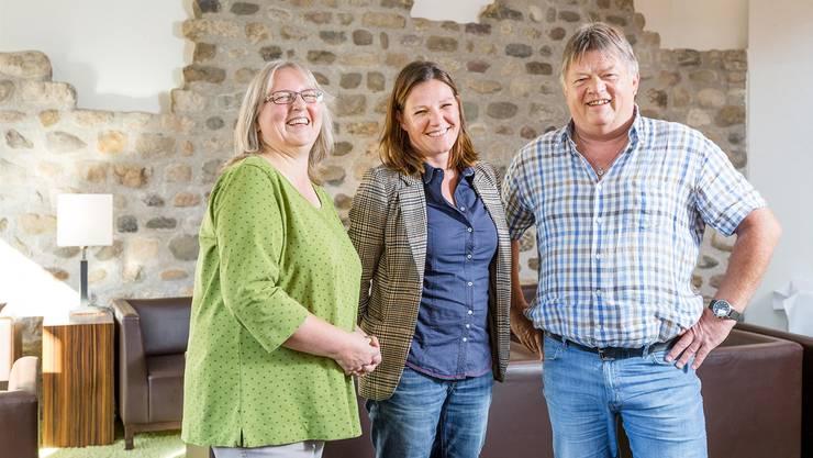 Regina Wiesinger (l.), Andrea Fischer und Daniel Günthardt: «Wir sind ein lässiges Team».