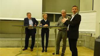 Sie diskutierten (v. l.): Roland Stulz, Petra Hirsig-Geiger, Urs Capaul und Moderator Tomas Gröbly.