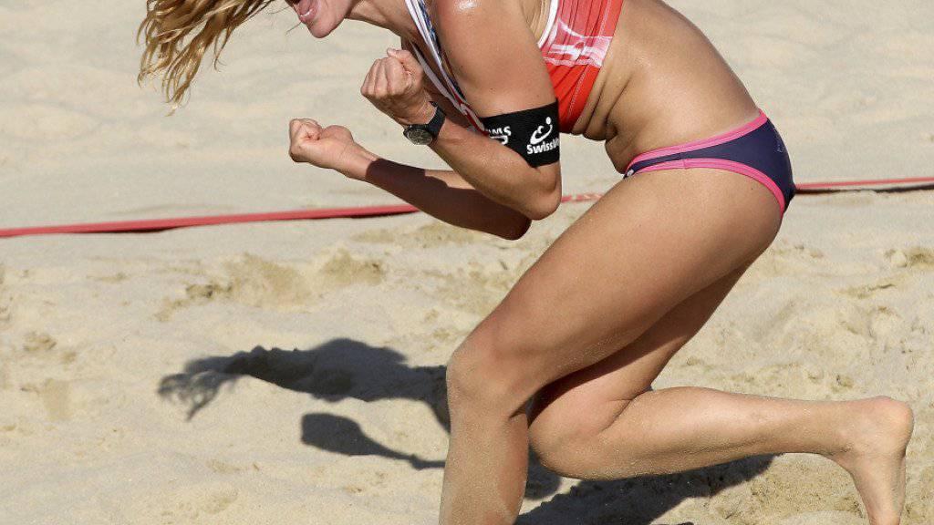 Darf mit Partnerin Tanja Hüberli an den World-Tour-Finals in Hamburg aufschlagen: Nina Betschart