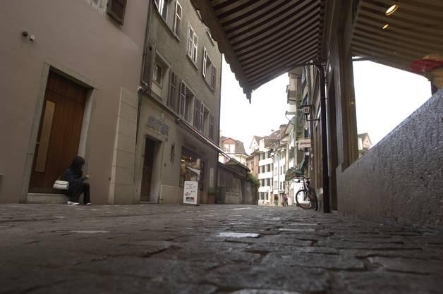 Hier an der Schmiedengasse, in der jetzigen Suteria, entstand 1915 der Solothurner Kuchen.