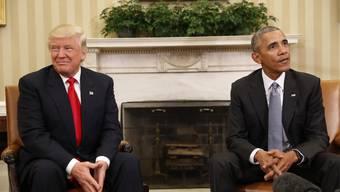 Barack Obama begrüsst Donald Trump im Weissen Haus