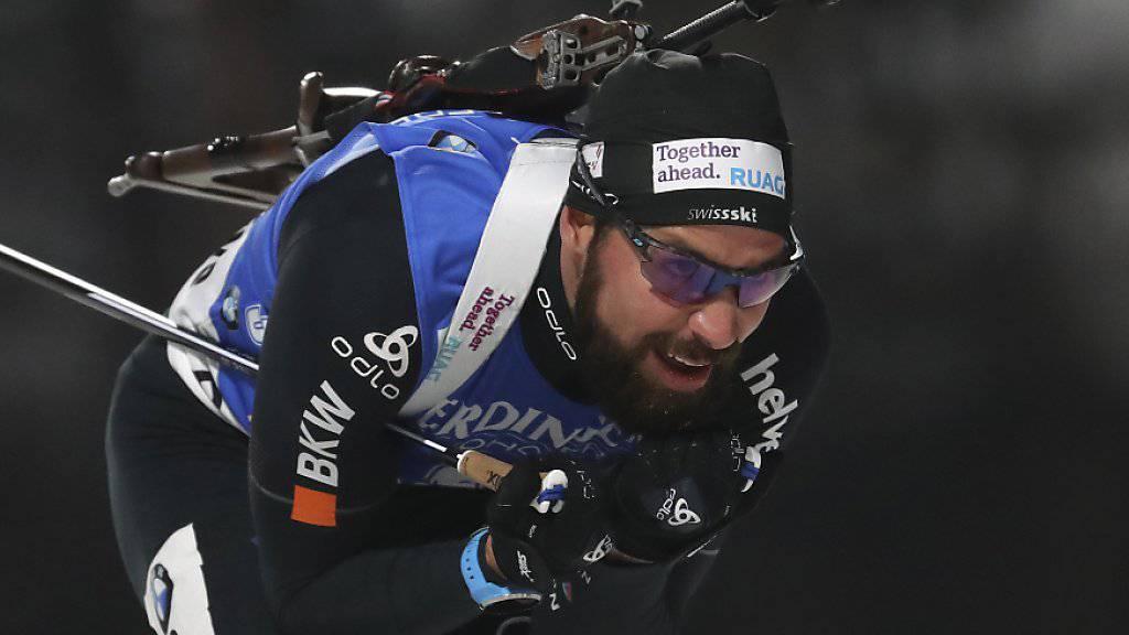 Verbesserung um neun Plätze: Benjamin Weger wurde in der Verfolgung in Kontiolahti 31.