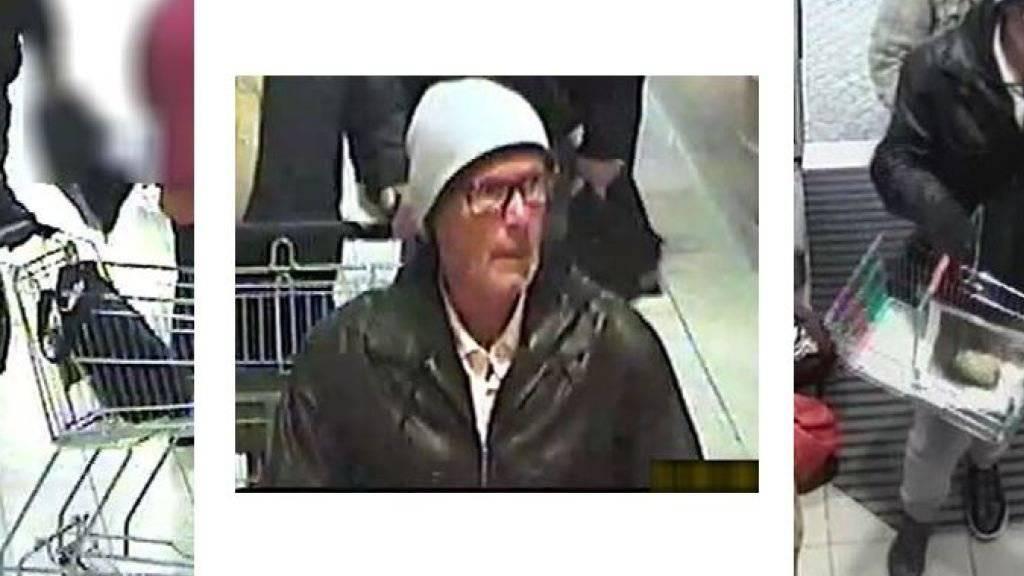 Diese Bilder veröffentlichte die Polizei Konstanz: Sie geht davon aus, dass dies der mutmassliche Erpresser ist, der Mitte September Gläser mit vergifteter Babynahrung in Geschäften deponierte.