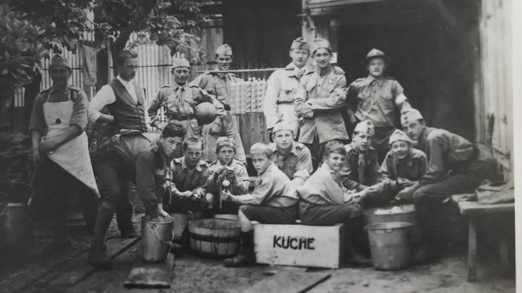 Das älteste noch vorhandene Foto der Pfadi Limmattal wurde 1920, also im Jahr nach der Gründung aufgenommen.
