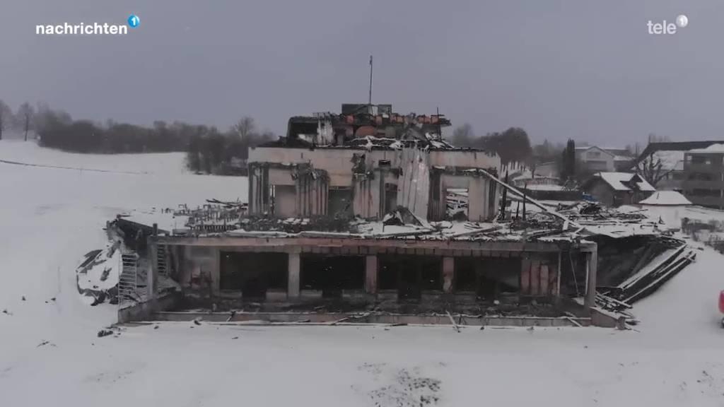 Vom Sempacher Golfrestaurant bleibt nur eine Ruine