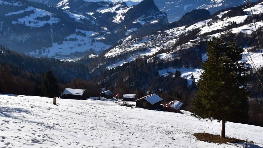 Die Maiensässsiedlung Munt in Fanas im Prättigau, wo in neun Hütten eingebrochen wurde.