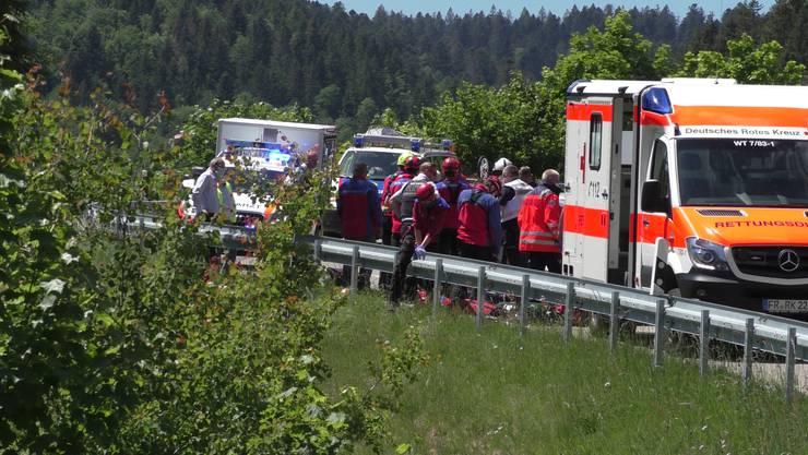Die beiden Schweizer (21 und 23) wurden bei dem Unfall schwer verletzt.