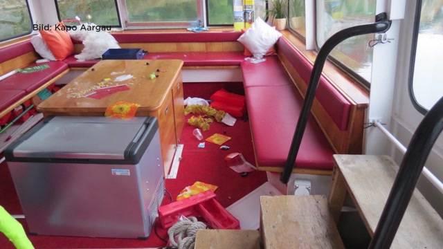 Vandalismus in Schiff in Laufenburg