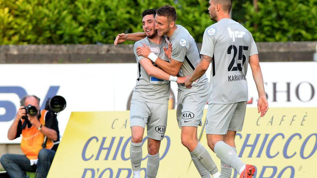 Die Spieler des FC Aarau hatten in den letzten Monaten viel Grund zum Jubeln