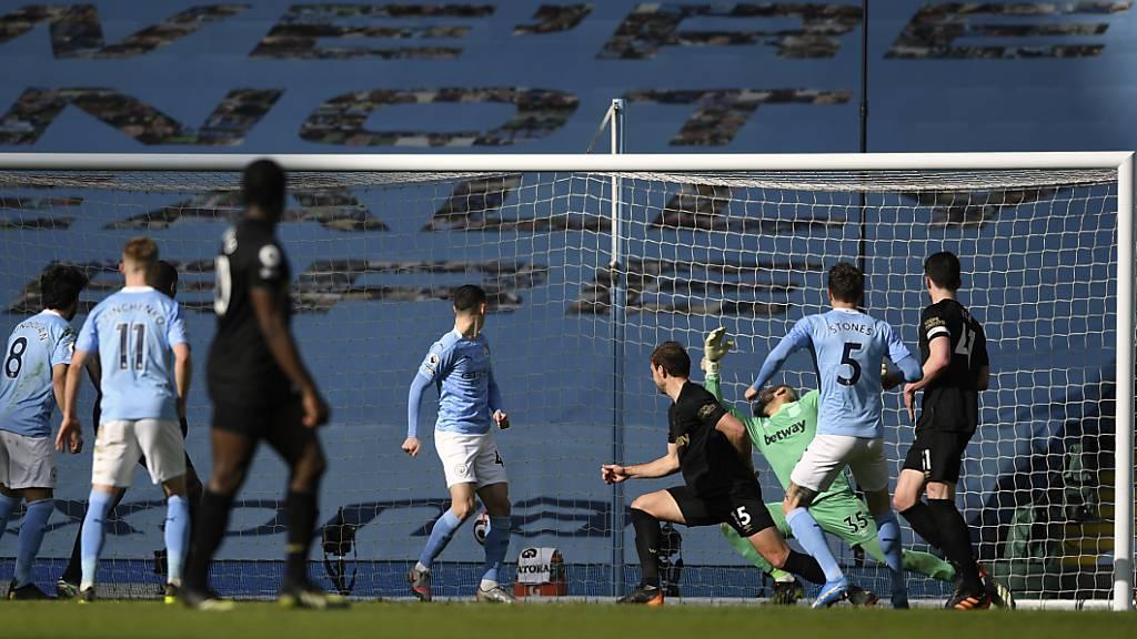 John Stones erzielte in der 68. Minute den Siegtreffer für den Tabellenführer Manchester City
