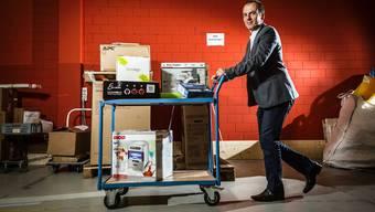 Roland Brack, Gründer und Inhaber der Firma Brack.ch in Mägenwil. Chris Iseli