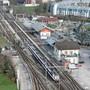 Blick auf den Bahnhof Wildegg. Ab 2022 soll er umgestaltet und ausgebaut werden.