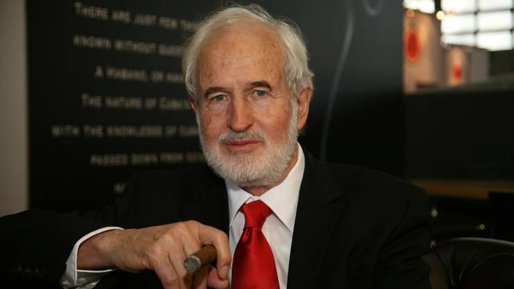Der Referent Heinrich Villiger, Doyen der Cigarrenbranche