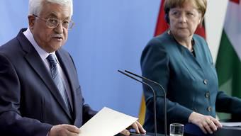 Abbas und Merkel verkündeten, trotz aller Hindernisse am Ziel einer Zwei-Staaten-Lösung festzuhalten.