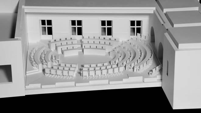 Der Kantons- und Regierungsrat soll künftig in ovaler Sitzanordnung Platz nehmen.