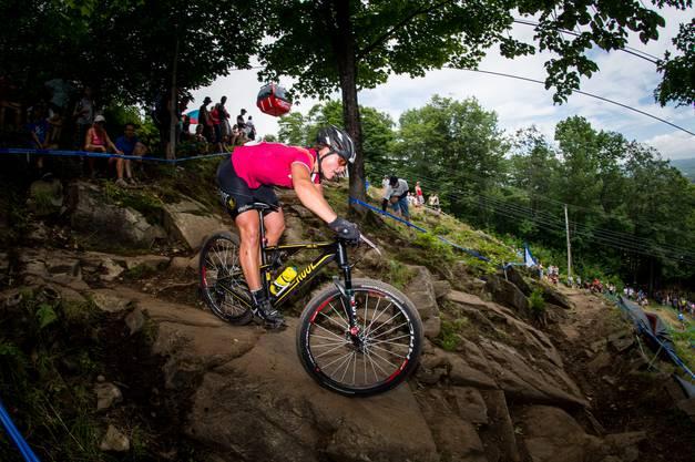 Als Mountainbikerin durfte sie keine Angst vor steilen Abfahrten haben